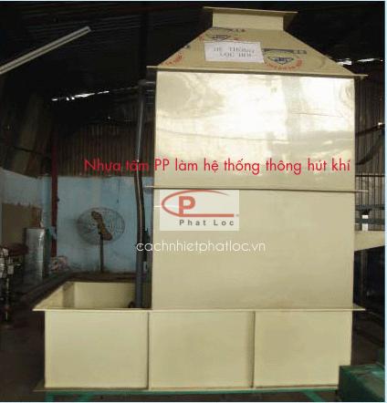 Nhựa pp làm hệ thống thông không khí