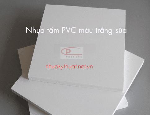 Nhựa tấm PVC màu trắng sữa